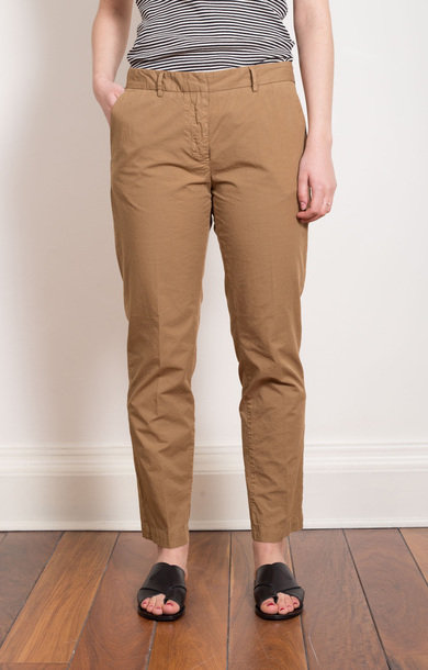 Cotton Tobacco Slim Trouser