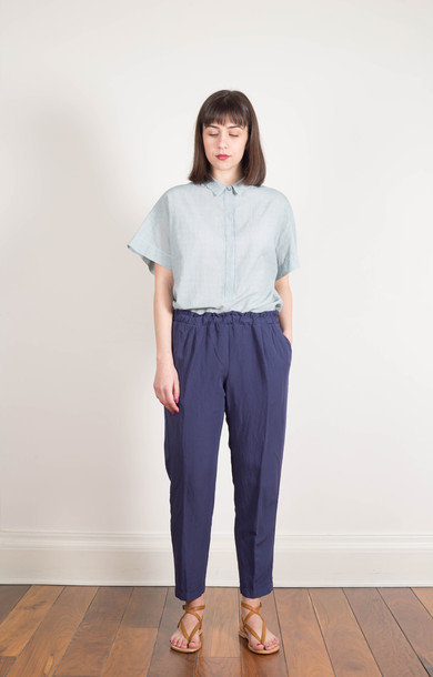 Drawstring Viscose Trouser Midnight