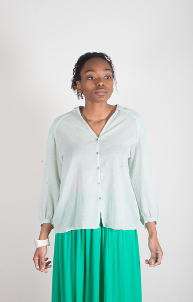 Golden Stripe Shirt Mint