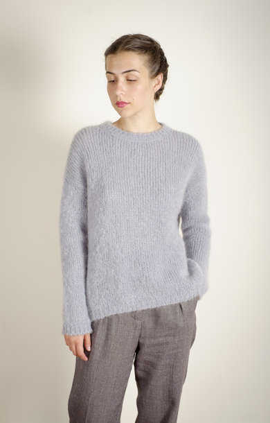 Mohair Round Neck Jumper Ice Blue