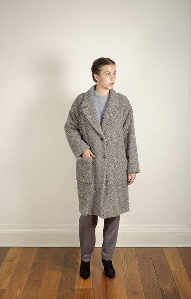 Patch Pocket Coat Grey