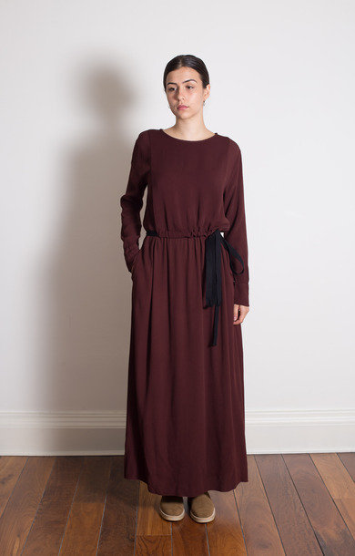 Port Belted Long Dress