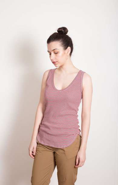 Simple Berry Striped Vest