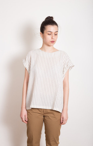 Striped Cotton Tie Top