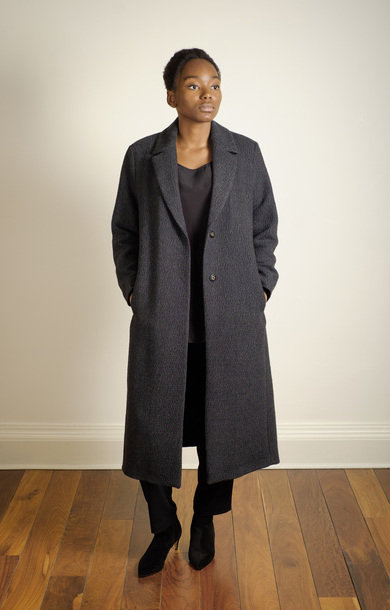 Textured Overcoat Grey