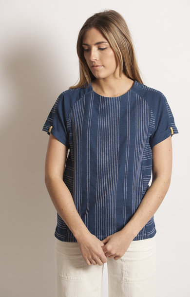 Grace Top Indigo