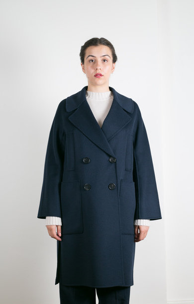 Aromaci Coat Midnight Blue