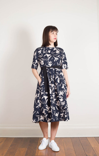 Calao Dress Navy Print