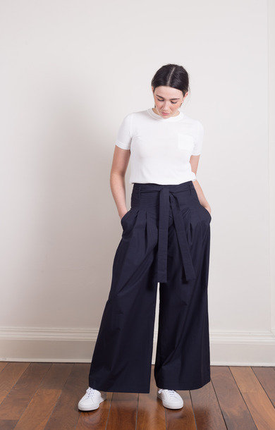 Dtappet Trousers Midnight Blue