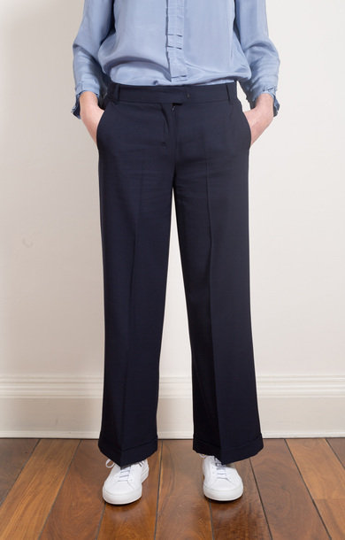 Estremo Trousers Midnight Blue