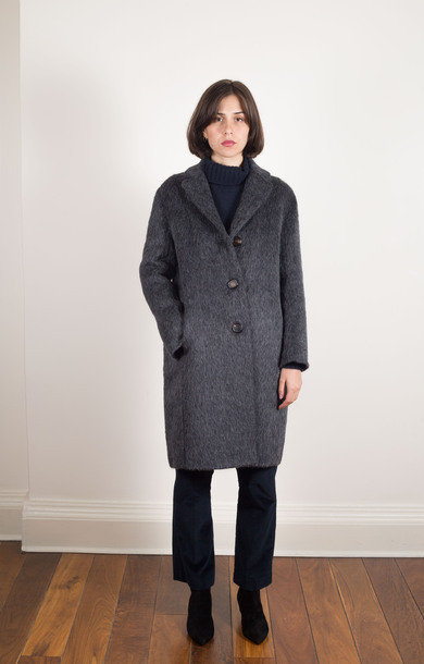 Livrea Wool Alpaca Coat Grey
