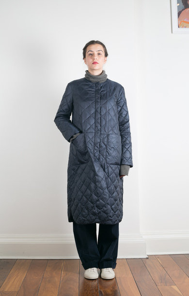 Openone Quilted Coat Midnight Blue