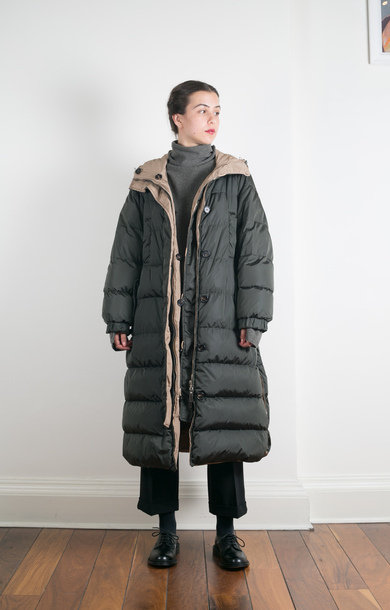 Sporty Quilted Coat Kaki