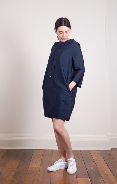 Tolmin Cotton Poplin Dress Midnight