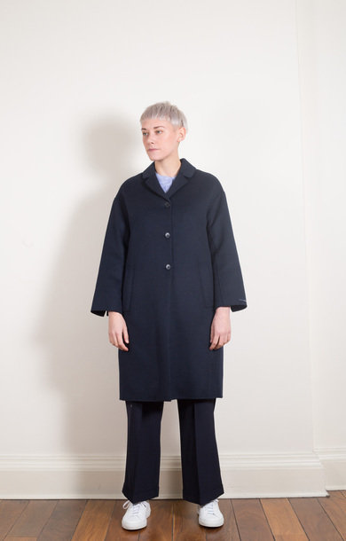 Travelc Coat Midnight Blue