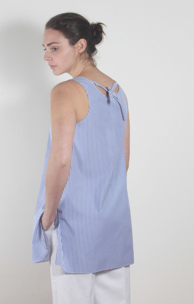 Zoe Top Blue/White Stripe