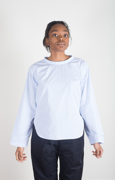 Brussels Crew Neck Top Sky