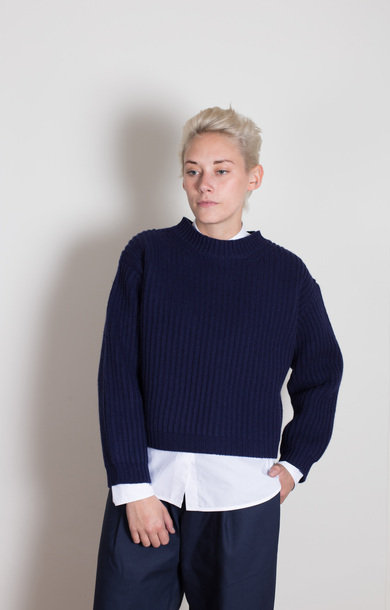 Maestro Crew Neck Sweater Navy