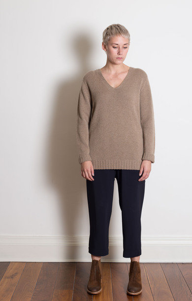 Mission V-Neck Cashmere Sweater Deer