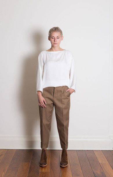 Pint Shorter Fitted Cuffed Pants Sepia