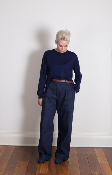 Prudence Wide Legged Pant Navy
