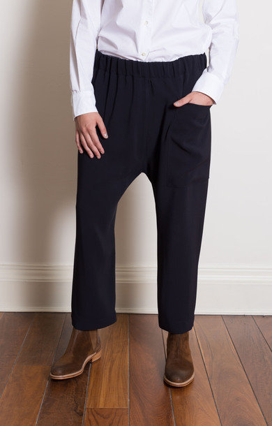 Punch Drawstring Pants Night Blue