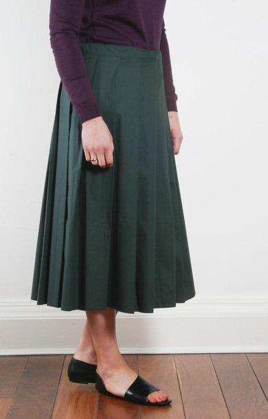 Sake Pleated Skirt Spruce