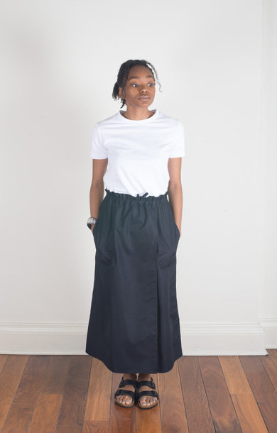 Serra Wrap Skirt Midnight