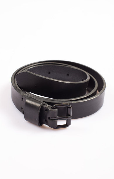 Viking Swiss Army Leather Belt Black