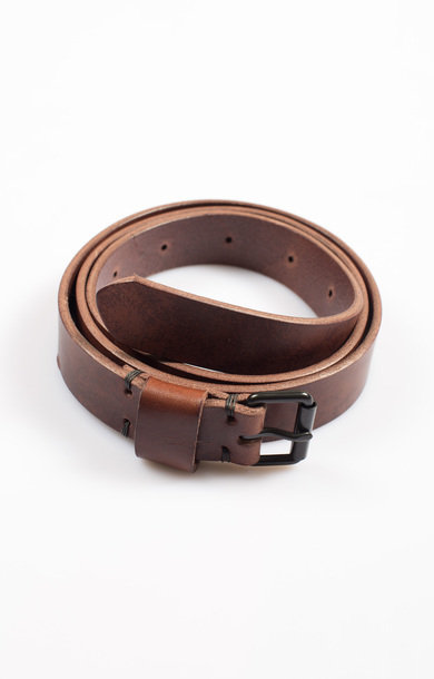 Viking Swiss Army Leather Belt Dk Brown
