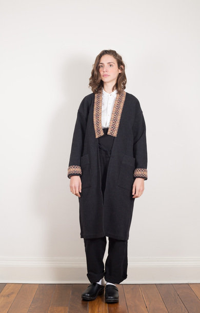 Tweed Ranru Coat Grey