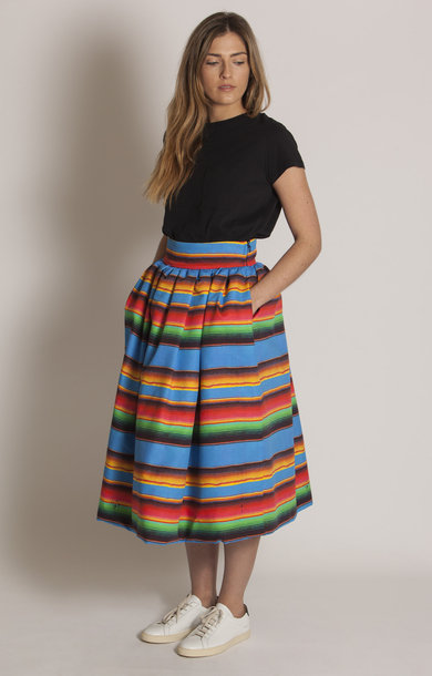 Carceriere Wide Gathered Skirt
