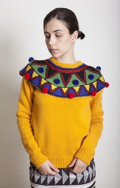Comporre Yellow Yoke Sweater