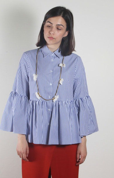 Imminente Shirt Blue/White Stripe