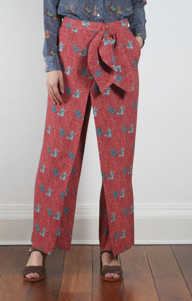 Matta Trouser Red Bird