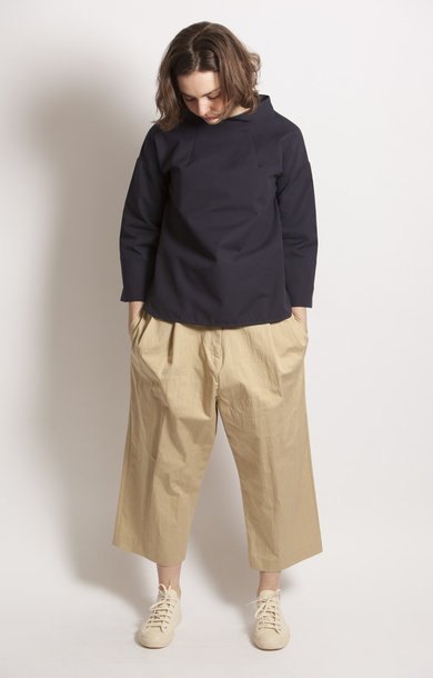 Bettina Pleat Front Volume Pant Sand