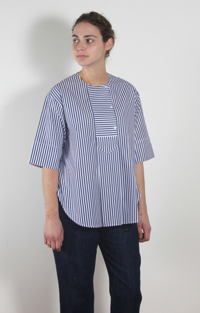 Celio Shirt Navy Stripe