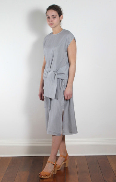 Lauro Dress Grey Stripe