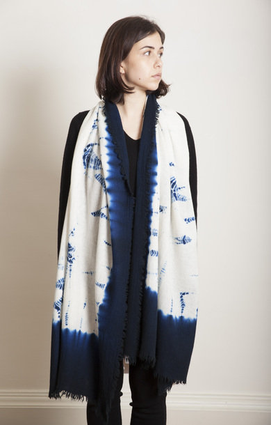Makiage Shibori Dark Blue/White