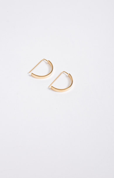 Earring Level Oval Gold