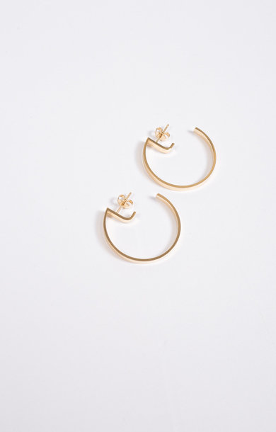 Earring Level Round Gold