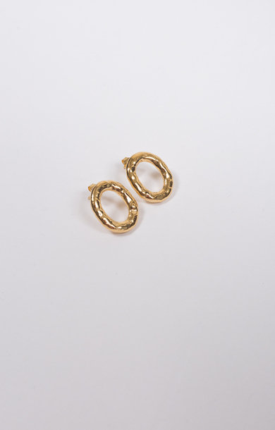 Earring Verge Round Gold