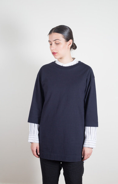3/4 Sleeve Big T-Shirt Black Navy