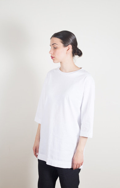 3/4 Sleeve Big T-Shirt White