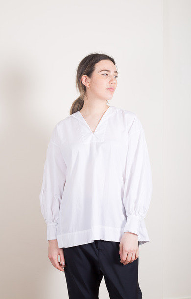 Bishop Sleeve Shirt White