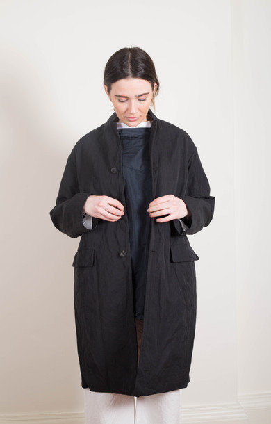 Chesterfield Coat Navy Black