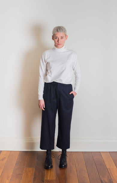 Easy Trouser Stripe Navy