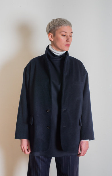 Oversized Sack Jacket Dark Navy