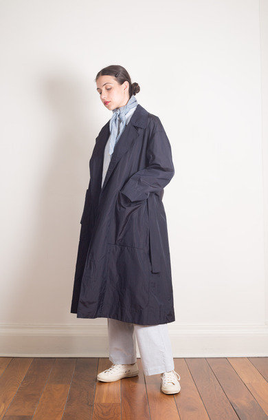 Oversized Trench Rose Coat Black Navy