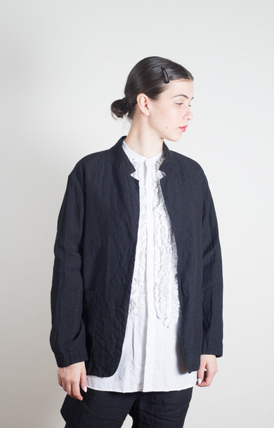 Tailored Cardigan Jacket Black Navy